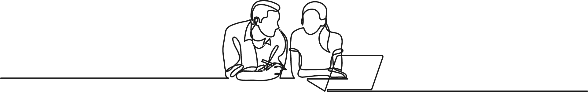 Line drawing of people